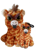 Feisty Pets Ginormous Gracie the Mama Giraffe and her Baby Scrappy Savannah - Turn Feisty with a Squeeze!