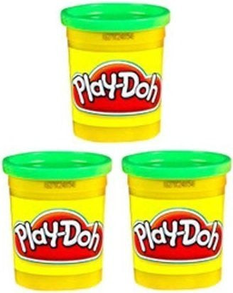 (3 Pack) Bright Green (23843) Hasbro Play-Doh 5 oz. (15 oz. total)