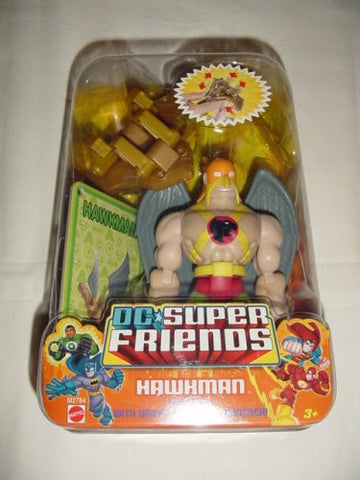 Fisher Price DC Super Friends Hawkman Figure with Gripping Claw & Launcher