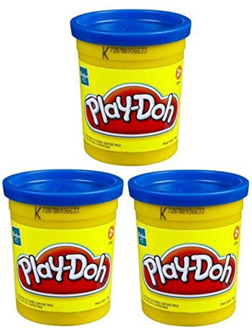 (3 Pack) Blue (23858) Hasbro Play-Doh 5 oz. (15 oz. total)