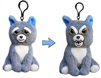 "Feisty Pets Mini Sammy Suckerpunch- Interactive 4"" Backpack Clip or Purse Charm!"