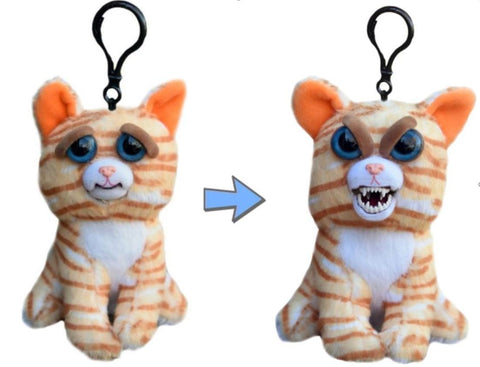 "Feisty Pets Mini Princess Pottymouth- Interactive 4"" Backpack Clip or Purse Charm!"