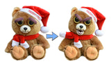 "Feisty Pets by William Mark- Ebenezer Claws- Adorable 8.5"" Plush Stuffed Holiday Bear That Turns Feisty With a Squeeze!"