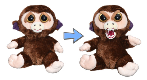William Mark Feisty Pets Grandmaster Funk Adorable Plush Stuffed Monkey that Turns Feisty with a Squeeze