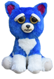 "Feisty Pets by William Mark- Freddy Wreckingball- Adorable 8.5"" Plush Stuffed Neon Blue Dog That Turns Feisty With a Squeeze!"