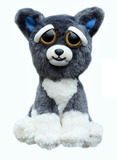 "Feisty Pets by William Mark- Sammy Suckerpunch- Adorable 8.5"" Plush Stuffed Dog That Turns Feisty With a Squeeze!"