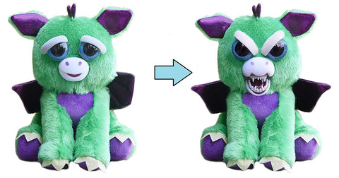 "Feisty Pets by William Mark- Ferdinand Flamefart- Amazing 8.5"" Plush Stuffed Dragon That Turns Feisty With a Squeeze!"