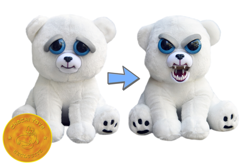 William Mark Feisty Pets Karl Snarl the Polar Bear Adorable Plush Stuffed Polar Bearthat Turns Feisty with a Squeeze