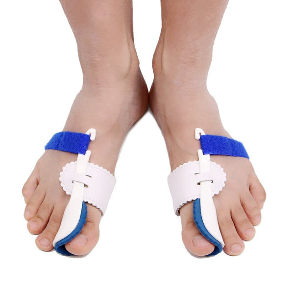 2pcs Adjustable Velcro Bunion Night Splint Hammertoe Corrector Brace for Big Toes