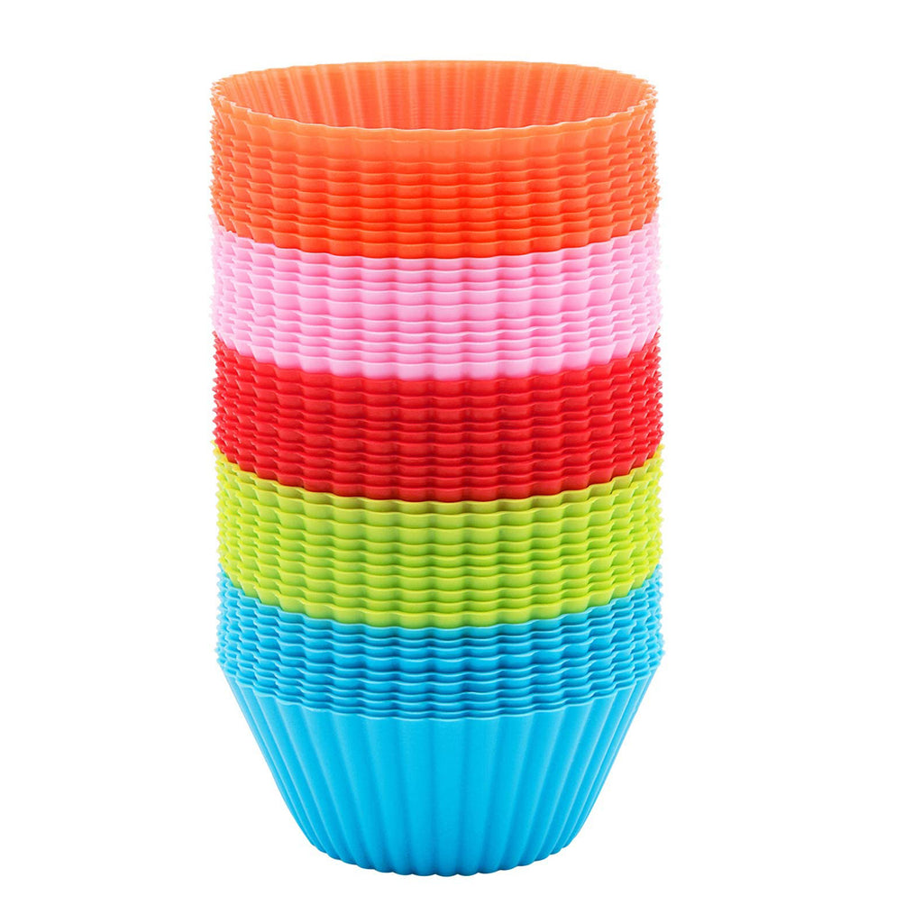 700PCS Silicone Cupcake, 700 PCS Baking Cups Liners, Reusable Non-stick Muffin Cups Cake Molds Standard, Multi-color