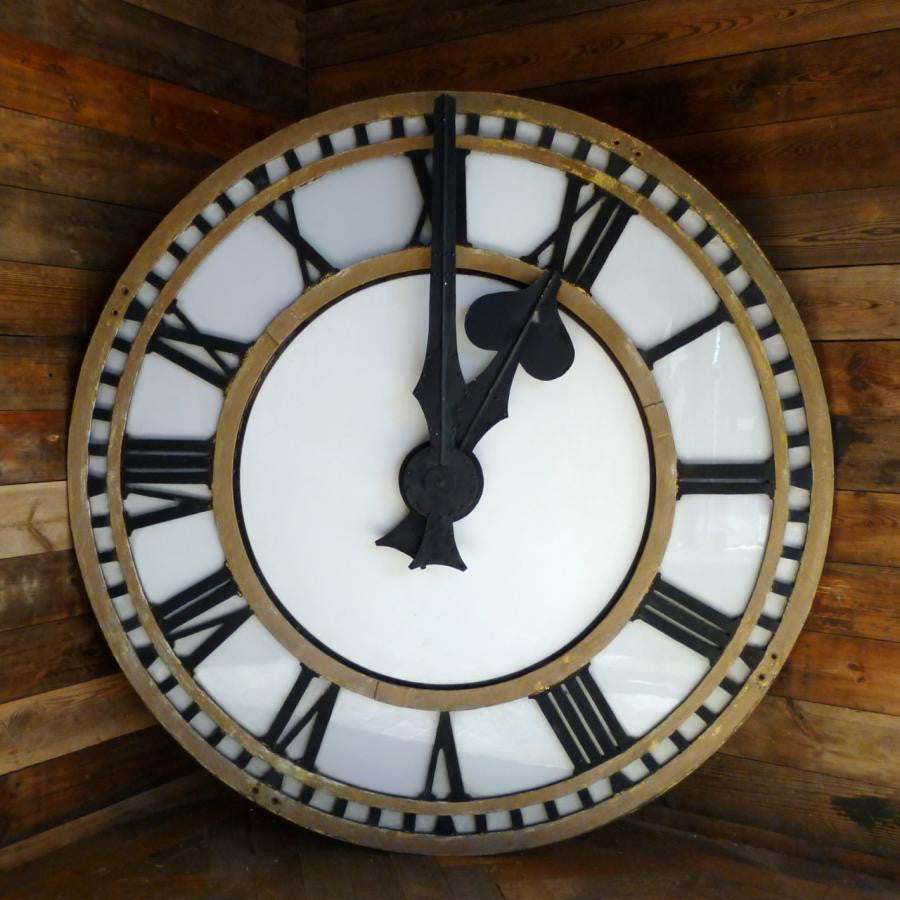 Large clockface architectural salvage