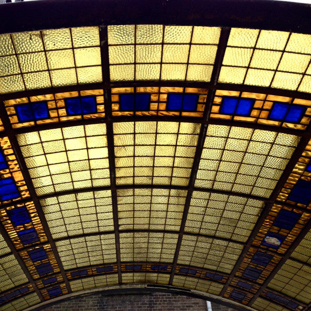 Spectacular 1929 Stained Glass Skylights from Metropole Cinema