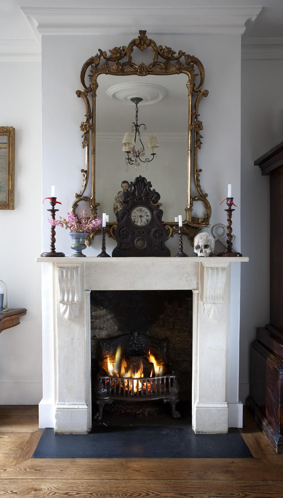 Antique Victorian Stone Fireplaces
