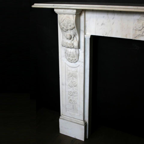 Decorative corbel fireplace surround