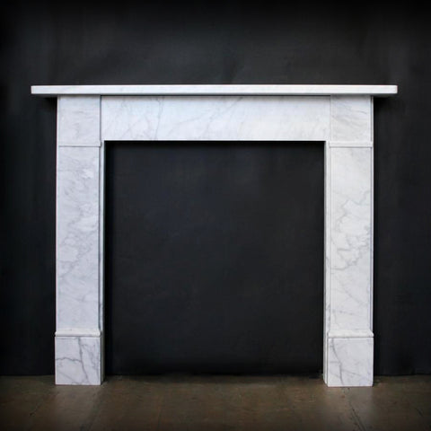 Carrara Marble Victorian Style Fireplace Surround