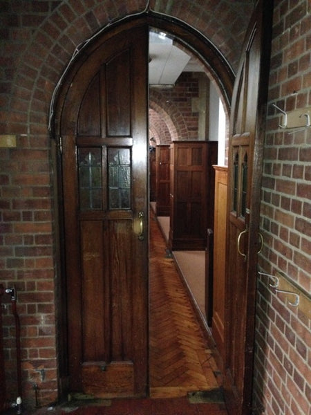 Gothic arched church doors