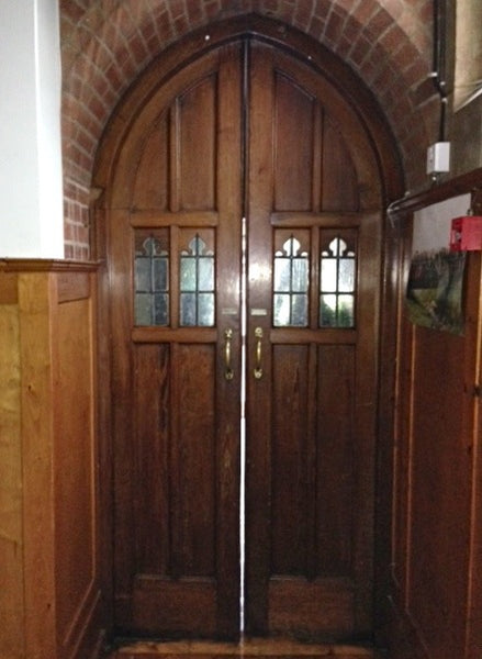 Gothic arched church double doors
