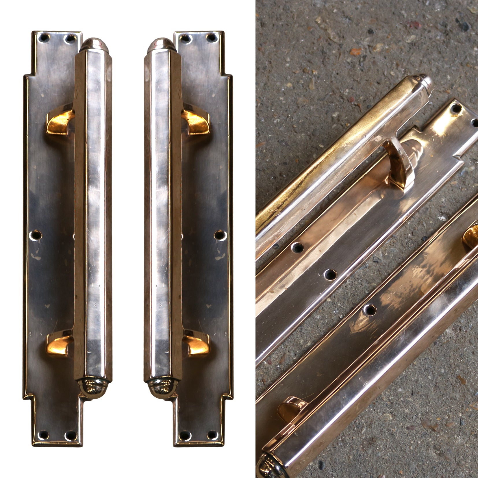 Art Deco Rose Brass Handles - The Architectural Forum