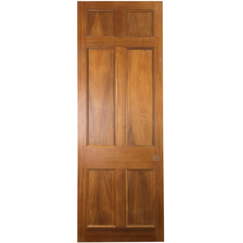 Reclaimed Mahogany Georgian Style Door - 234.5cm x 84.5cm - architectural-forum