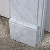 Victorian Style Carrara Marble Fireplace Surround with Corbels - architectural-forum