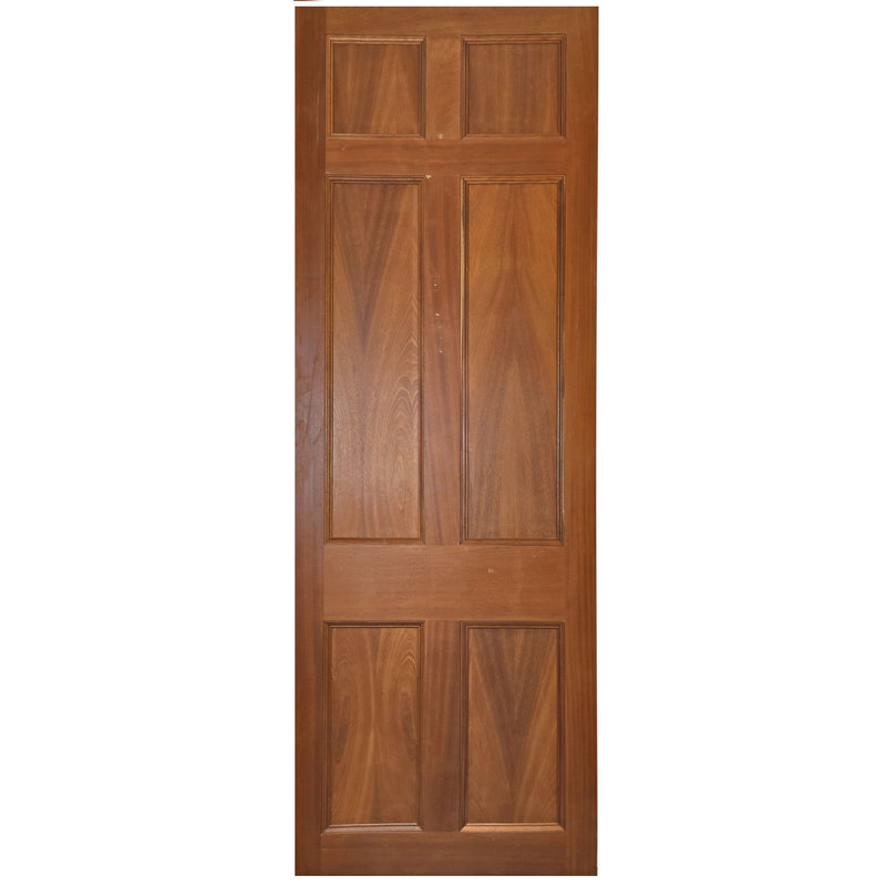 Reclaimed Mahogany Georgian Style Door - 237.5cm x 83cm - architectural-forum