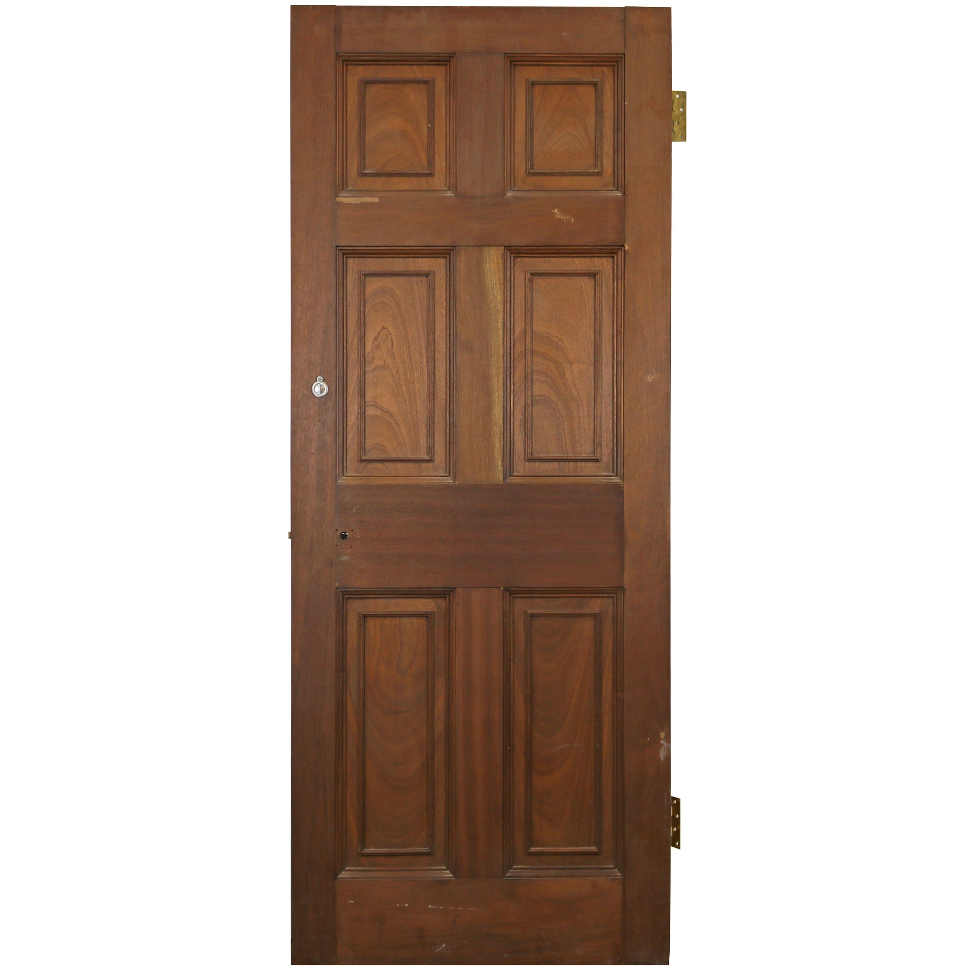 Reclaimed Mahogany Georgian Style Door - 188cm x 75.5cm - architectural-forum