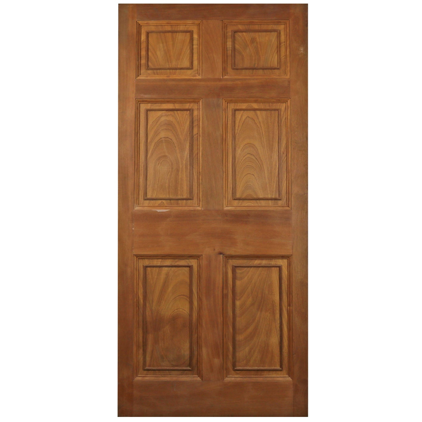 Reclaimed Mahogany Georgian Style Door - 191cm x 88.5cm - architectural-forum