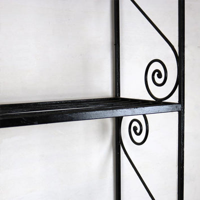 wrought iron shelving