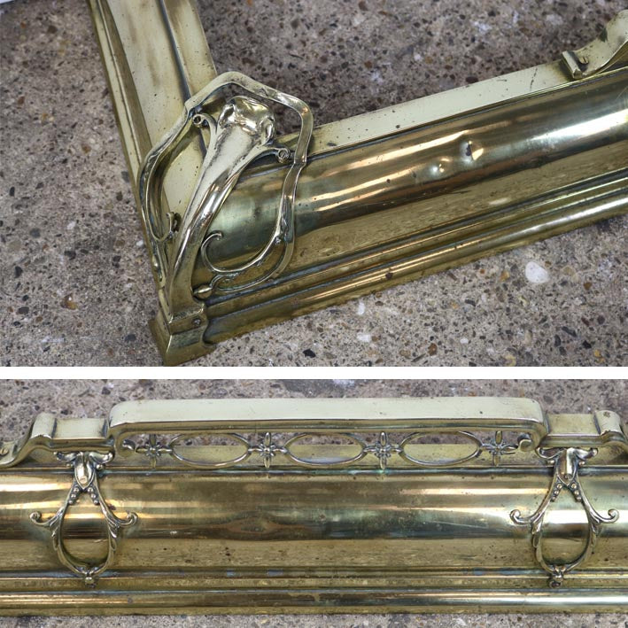 Antique Brass Fireplace Fender - architectural-forum