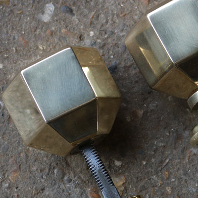 solid brass handles