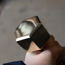 Solid Brass Hexagonal Door Handles