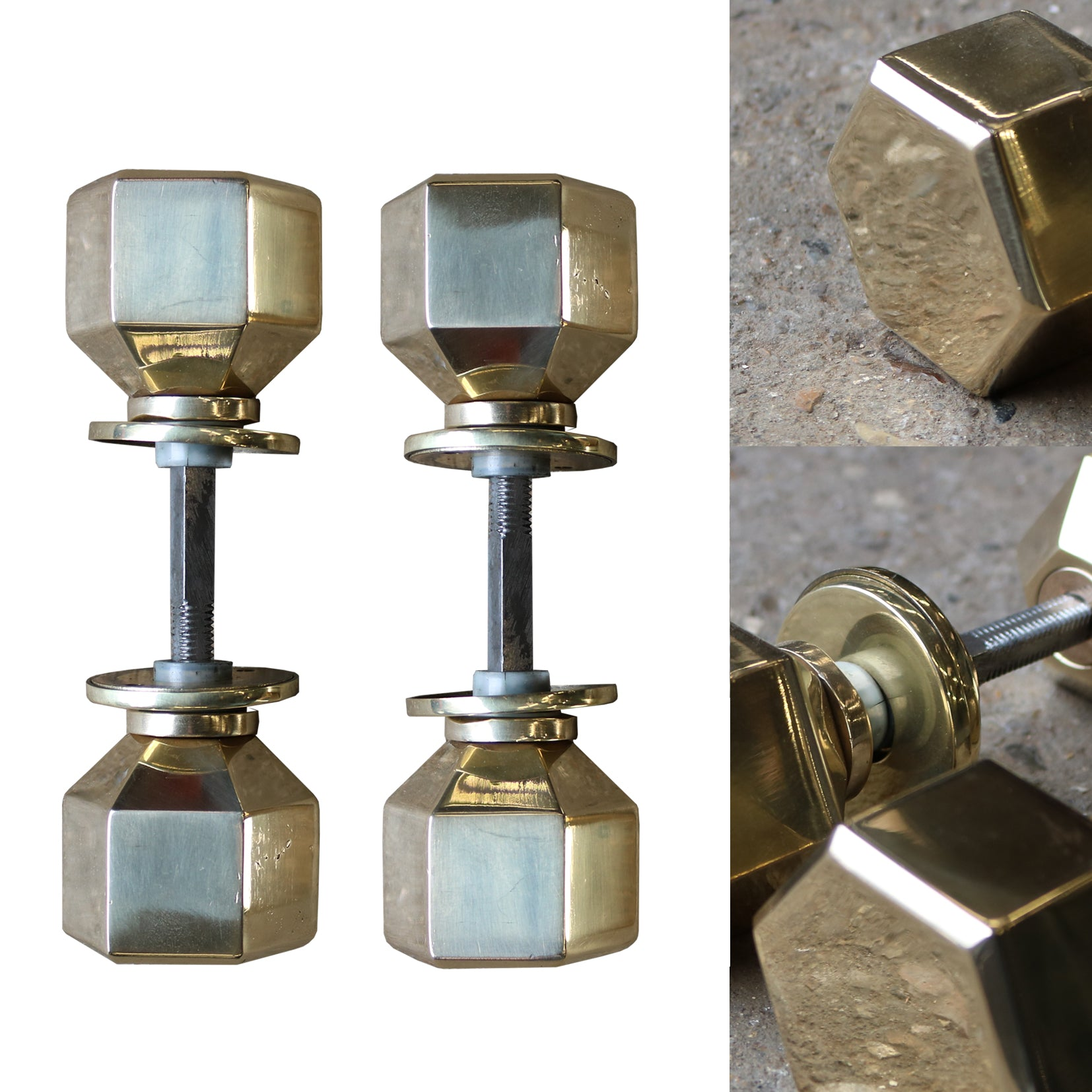 Solid Brass Hexagonal Door Handles | The Architectural Forum
