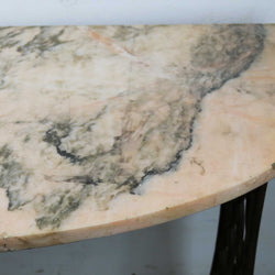 Marble Console Table with Industrial Base