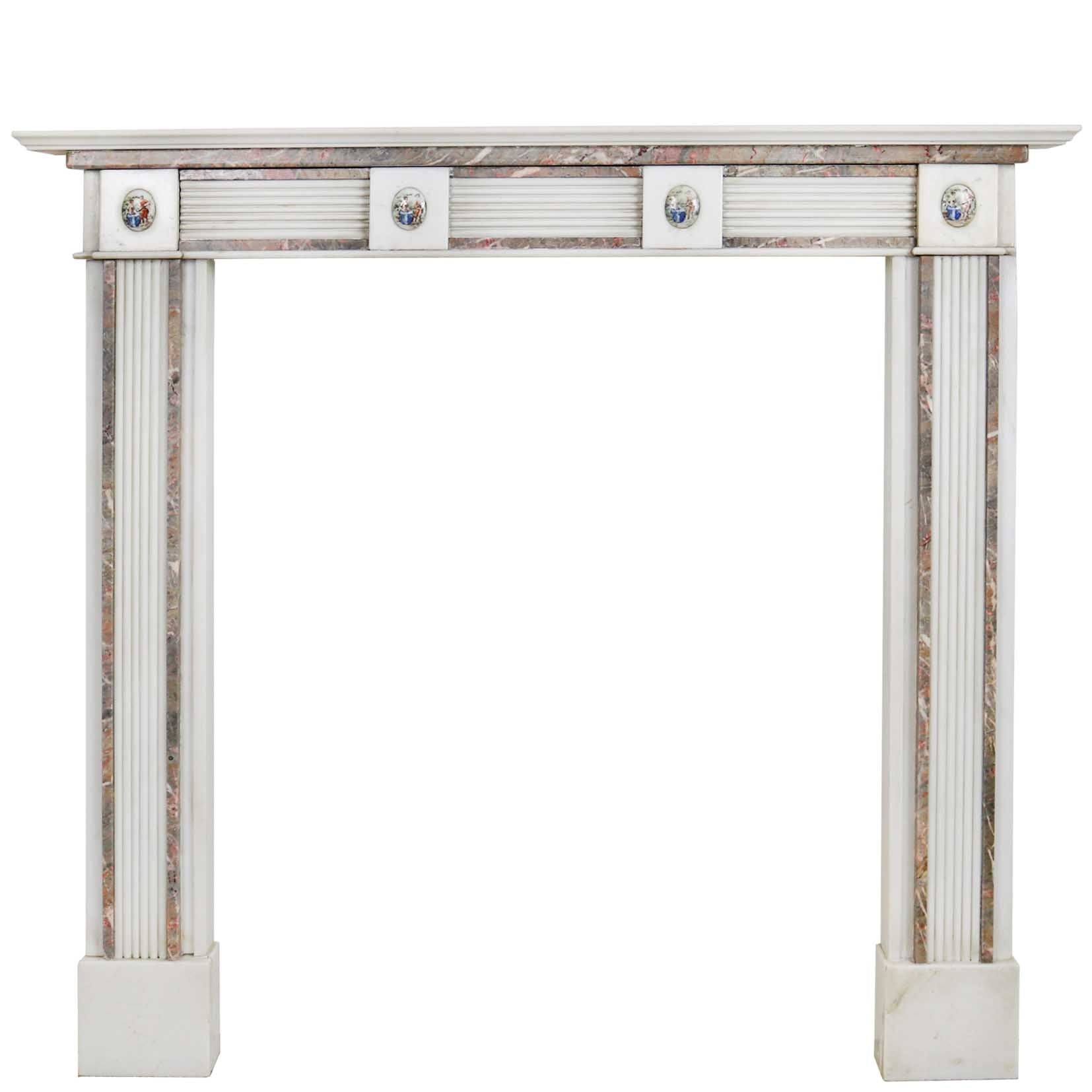 Regency Style Statutory & Rouge Royal Marble Fireplace Surround | The Architectural Forum