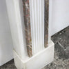 Regency Style Statutory & Rouge Royal Marble Fireplace Surround - architectural-forum