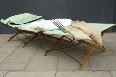 Vintage second world war camp bed