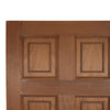 Reclaimed Mahogany Georgian Style Door - 199cm x 76cm - architectural-forum