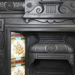 cast iron tiled fireplace victorian