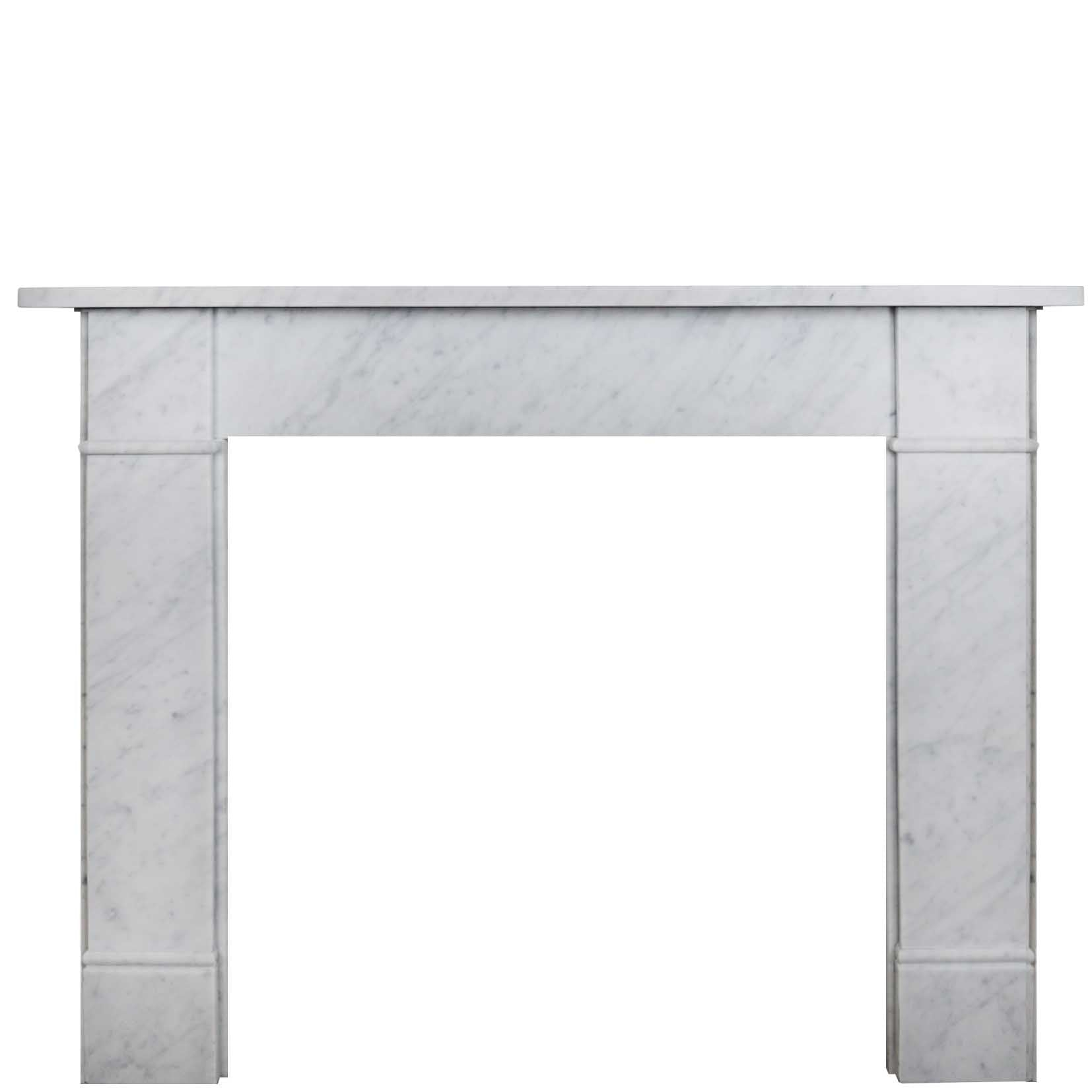 Carrara Marble Fireplace Surround - The Architectural Forum