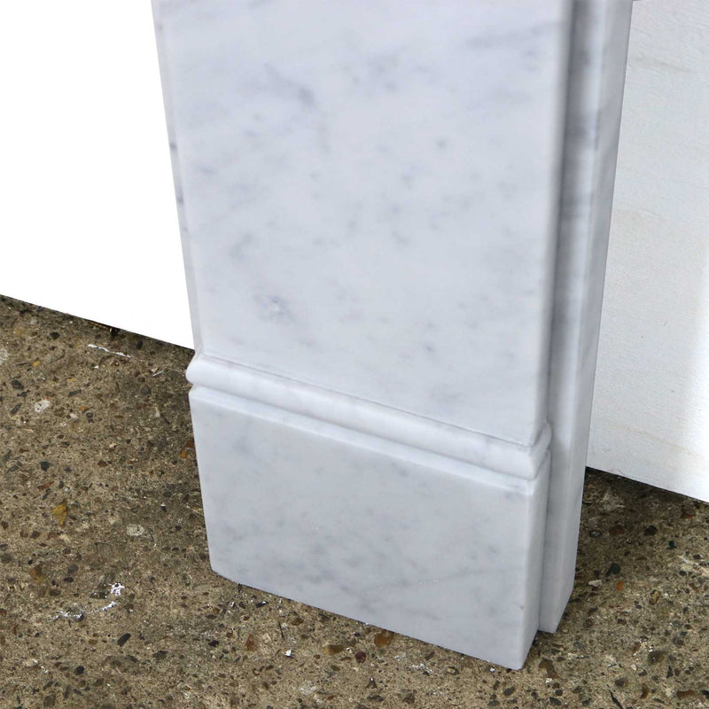 Carrara Marble Fireplace Surround - architectural-forum