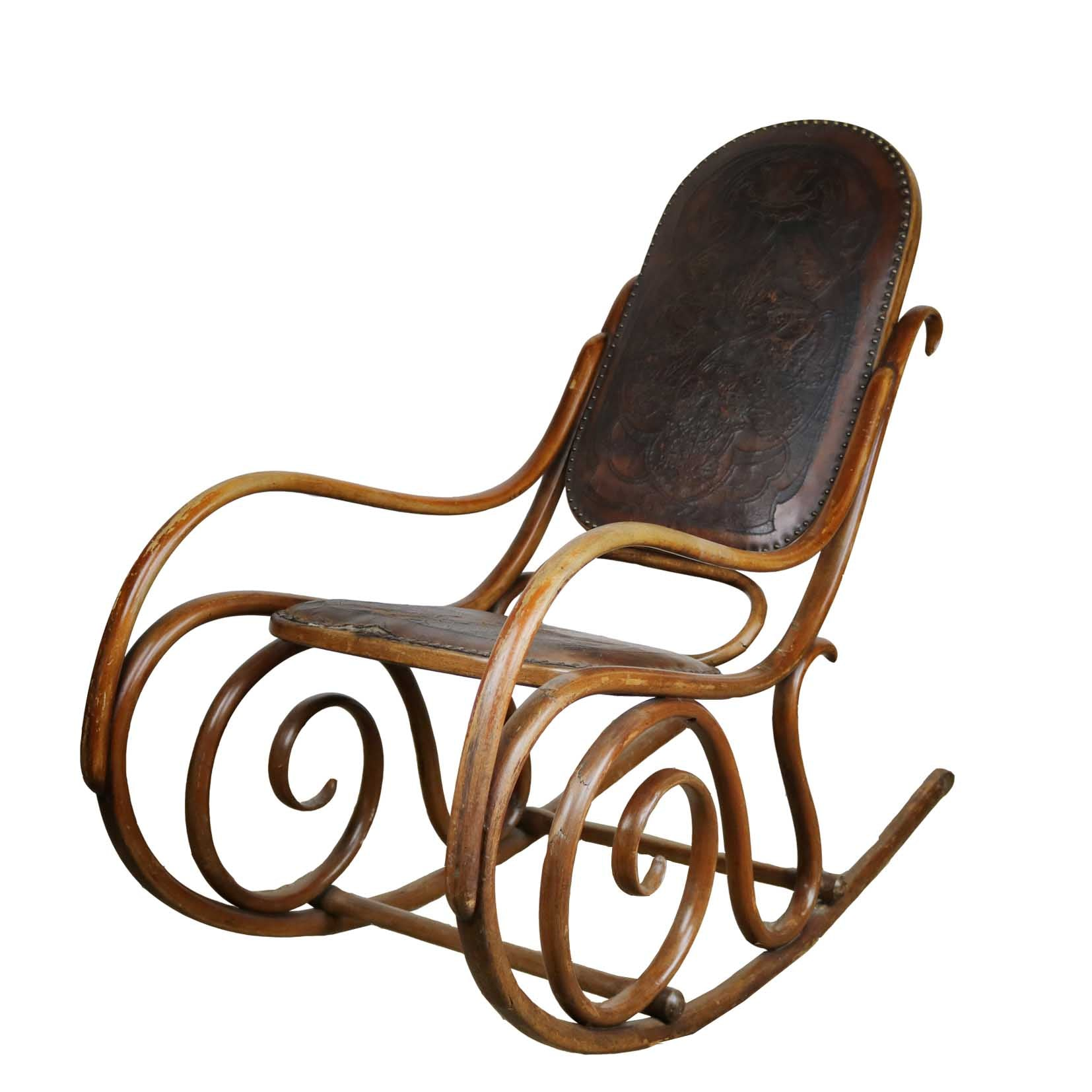 French Thonet Bentwood Rocking Chair - The Architectural Forum