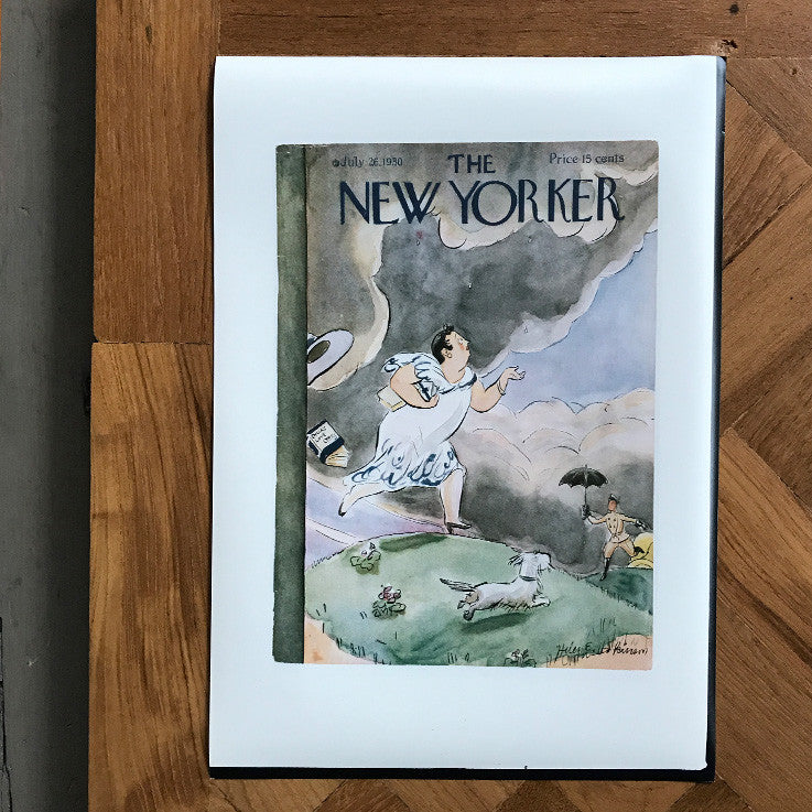 The New Yorker cover print created by Helen E. Hotkinson. July 26 1930