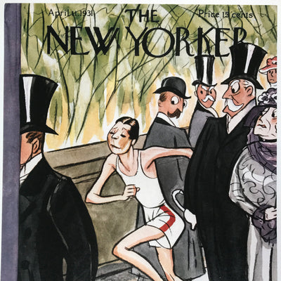 The New Yorker cover print created by Peter Arno. April 11 1931