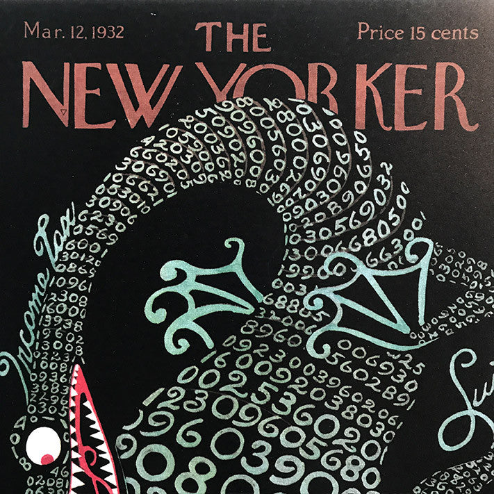 The New Yorker Cover Print March 1932