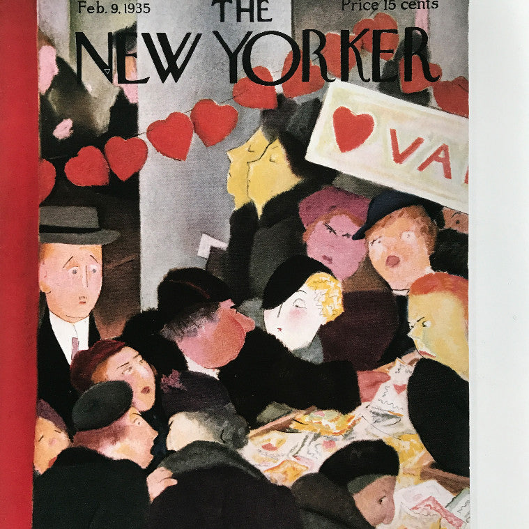 The New Yorker cover print created by W.Cotton Feb 9 1935.