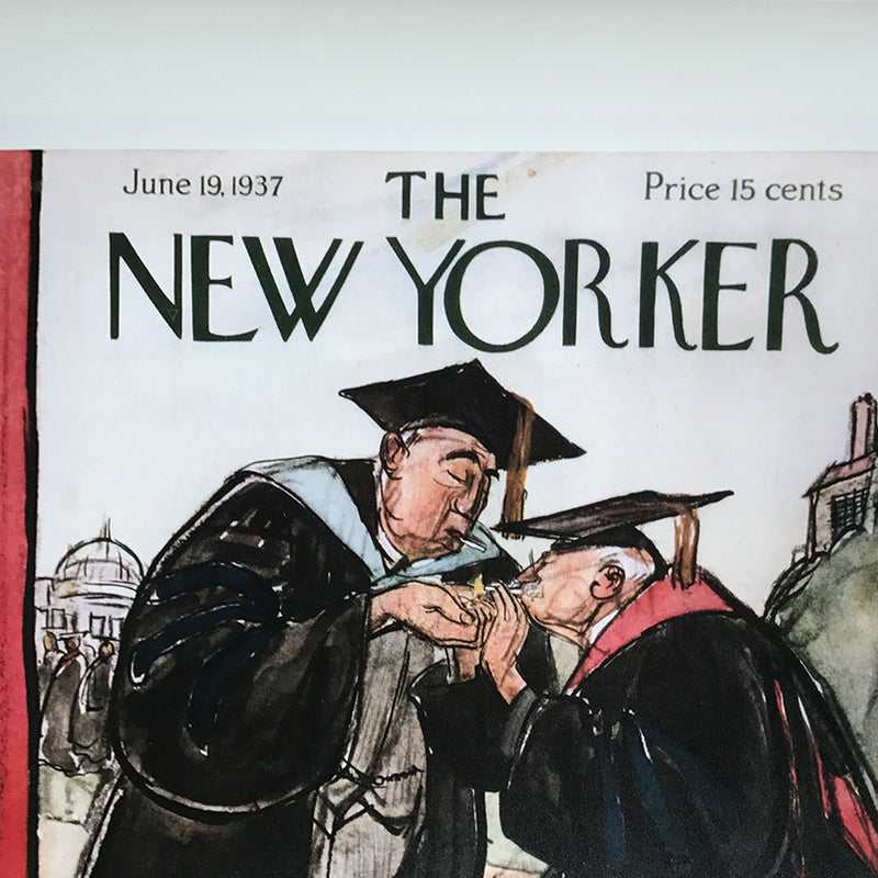 The New Yorker cover print Smoking Faculty created by Perry Barlow