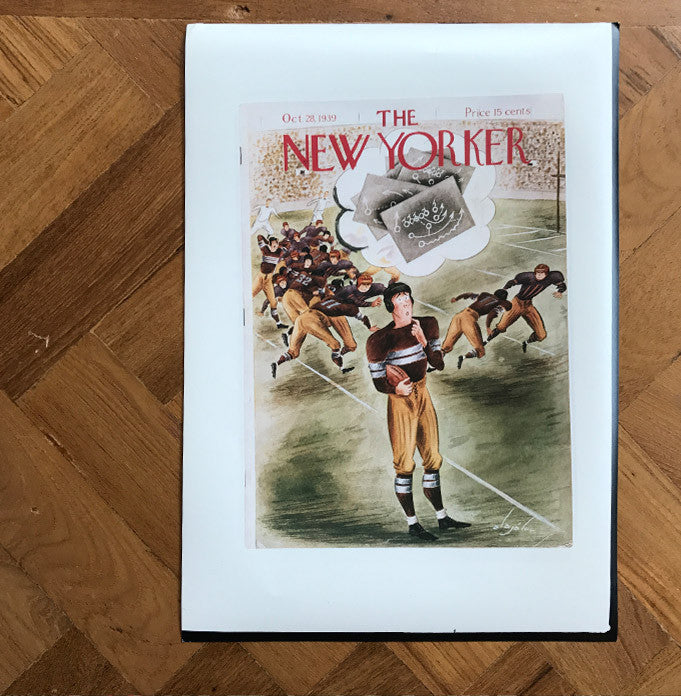 The New Yorker cover print created by Constantin Alajalov (1900-1987) Oct 28 1939