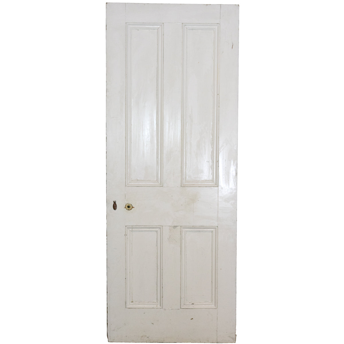 Antique Victorian 4 Panel Door - 195cm x 75.5cm