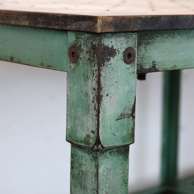 antique iron artist table