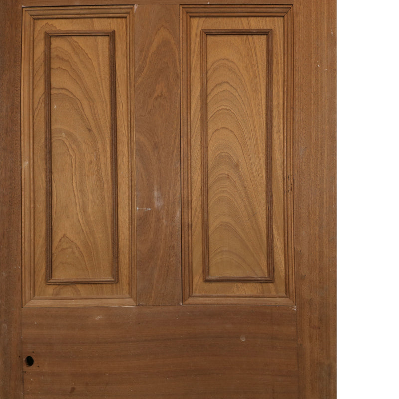 Reclaimed Mahogany Georgian Style Door - 196cm x 76.5cm